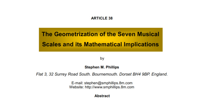 The geometrization of the seven musical scales and its mathematical implications