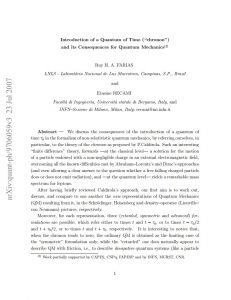 Introduction of a Quantum of Time (Chronon) and its Consequences for Quantum Mechanics