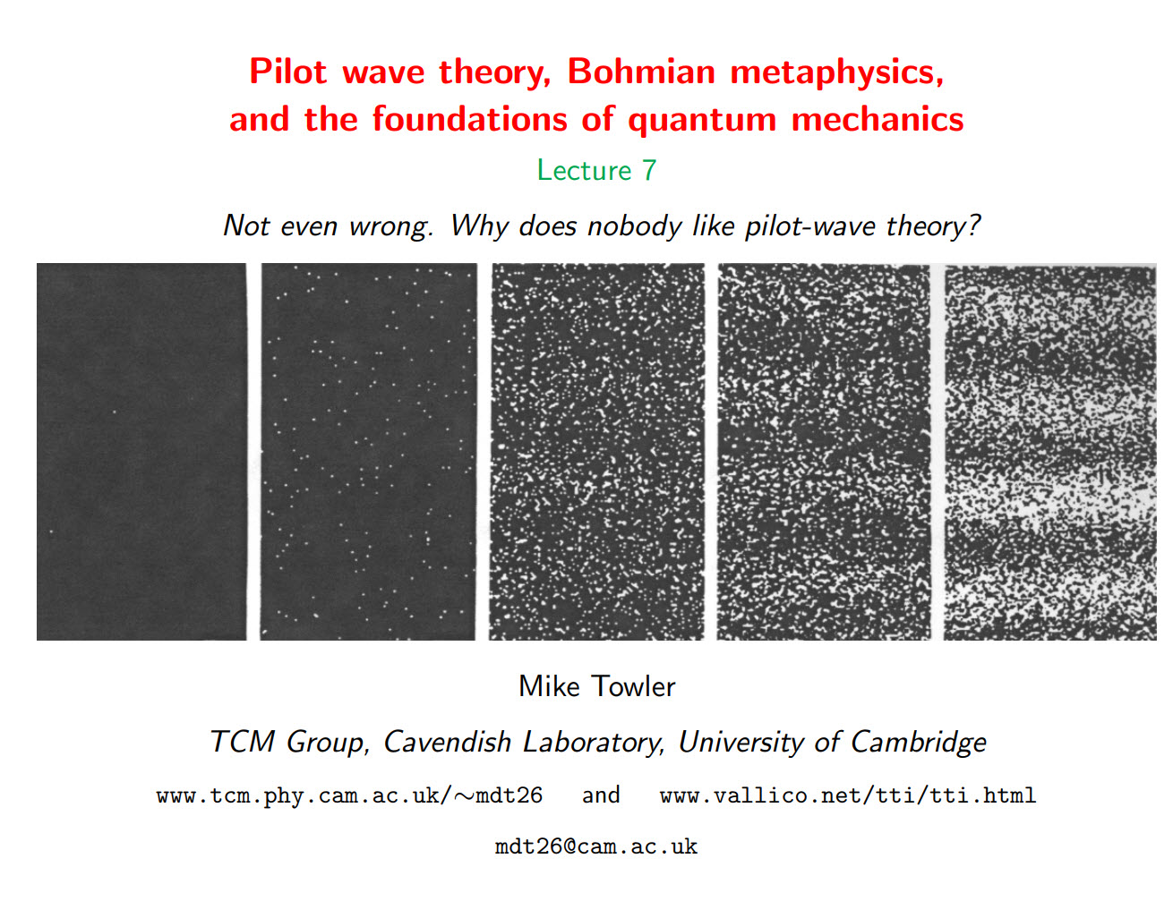 Not even wrong. Why does nobody like pilot-wave theory? Lecture 7
