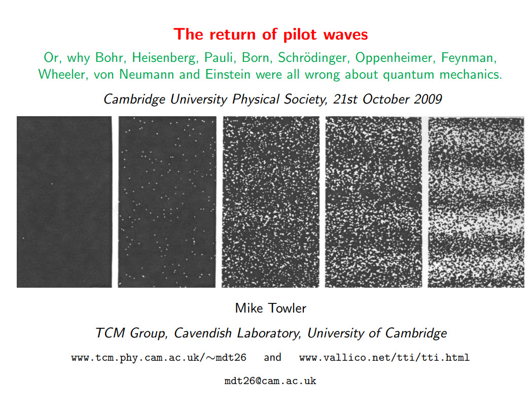 The return of pilot waves