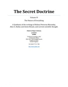 The Secret Doctrine Volume IV, The Nature of Everything