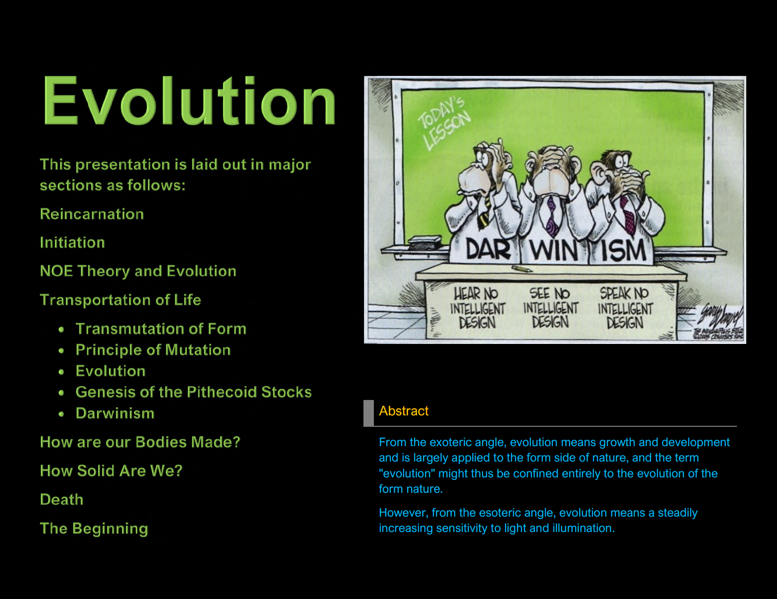 Evolution (Sorry Darwin but you are Wrong!) in Pictures