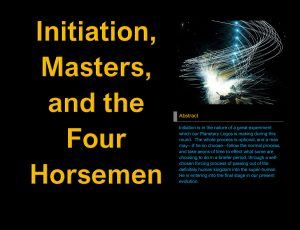 Let's Talk About Initiation and Masters